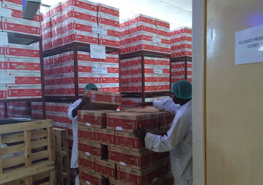Last year Valid Nutrition's factory in Malawi produced 3 million sachets of RUTF, enough to treat 25,000 children with Severe Acute Malnutrition (SAM)